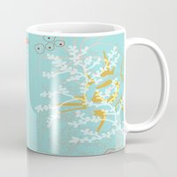 under the sea Mugs featuring Under the Sea by Simi Design