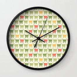 Shopping cart colored Wall Clock