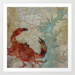Crabby on the Bay Art Print