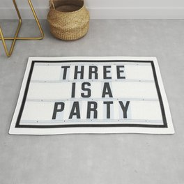 Three is a Party Rug
