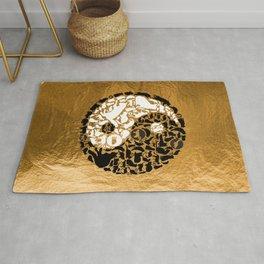 Yin-Yang Cats - Gold Rug