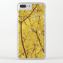 Colorado Autumn in Yellow Clear iPhone Case