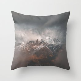 In between clouds Throw Pillow