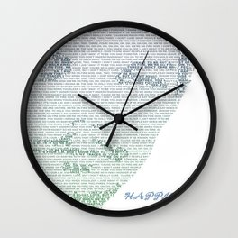Louis Tomlinson lyric Happily Silhouette Wall Clock