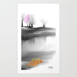 Pink Tree Art Print