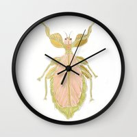 bug Wall Clocks featuring Bug by Very Sarie