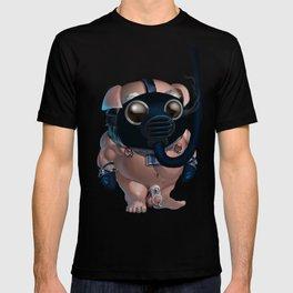 Kink Pig Slave Tumble Gasmask Naked T-shirt