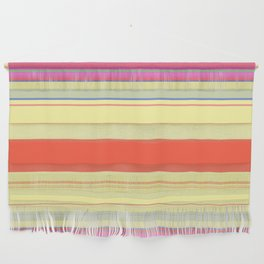 Colorful Bright Spring Stripes Wall Hanging