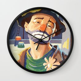 (Very) Sad Clown Wall Clock