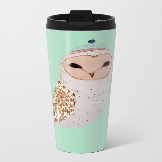 Barn Owl  Metal Travel Mug