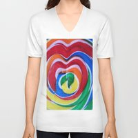 candy V-neck T-shirts featuring CANDY by Manuel Estrela 113 Art Miami