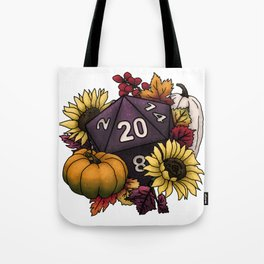 Harvest D20 - Autumn Tabletop Gaming Dice Tote Bag
