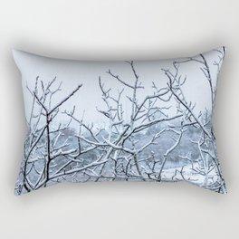 Winter snowy branches Rectangular Pillow