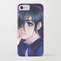 kuroshitsuji iPhone & iPod Cases featuring Kuroshitsuji Ciel Portait by StephanieIllustrations