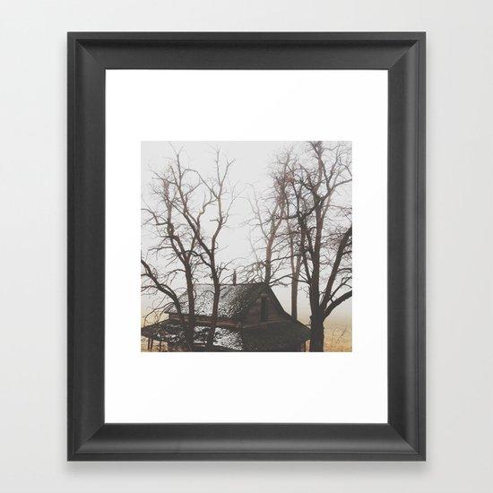 Haunted House Framed Art Print
