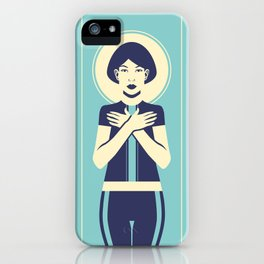 Evangeline Blue iPhone Case