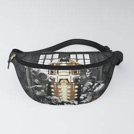 Tardis With Black Pattern Fanny Pack