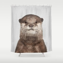 Otter - Colorful Shower Curtain