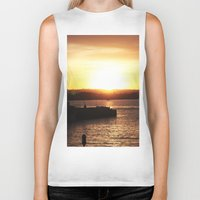san diego Biker Tanks featuring San Diego Sunset by Tdrisk46