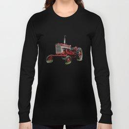 International Harvester Farmall 240 Red Tractor McCormick Deering Long Sleeve T-shirt