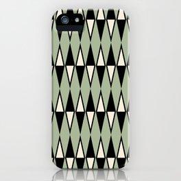 Mid Century Modern Diamond Pattern Sage Green 234 iPhone Case