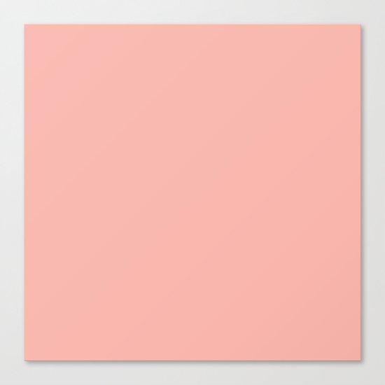 SOLID CORAL/PEACH Canvas Print