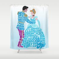 cinderella Shower Curtains featuring Cinderella by pokegirl93