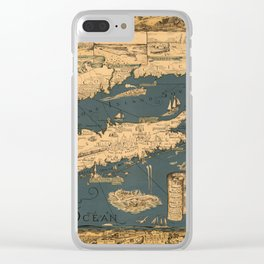 Map of Long Island Clear iPhone Case