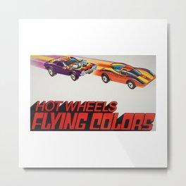 Vintage Redline Flying Colors Hot Wheels Rodger Dodger and Grand Prix Racer Poster Metal Print