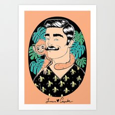 Johnny in the Jungle Art Print