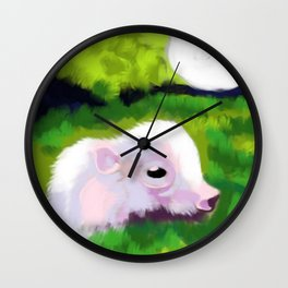 This little piggie Wall Clock