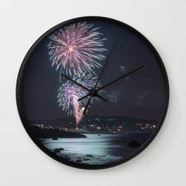Rockport Firework at Old Garden Beach Wall Clock