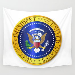 Presedent Seal Depiction Wall Tapestry