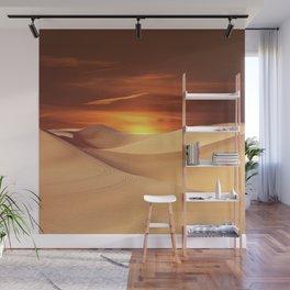 The Sunset On Desert Wall Mural