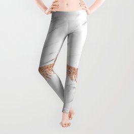 Rose gold marble lash envy Leggings