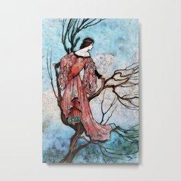 Climbed Up A Tree Metal Print