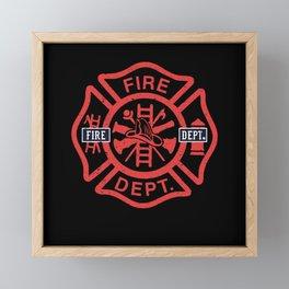 Fire Department Symbol Gift Idea Framed Mini Art Print