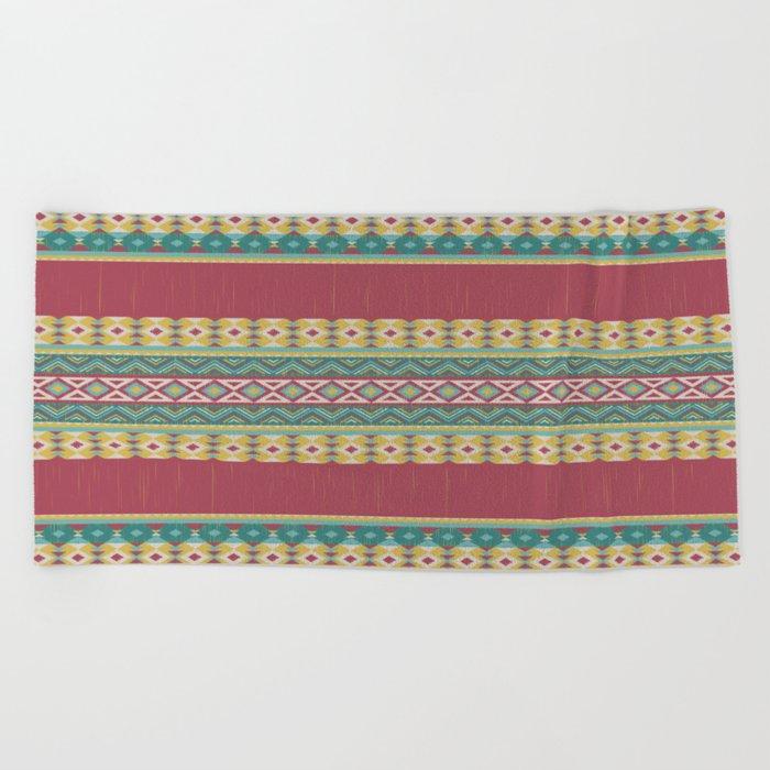 Aztec Art Beach Towel