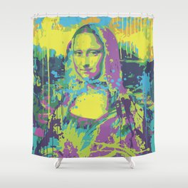 Mona Lisa Pop Art Shower Curtain