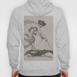 Nude Classical Woman Riding a Beetle 1895-1896 Hoody