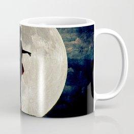 Ballerina Moon Teal Night Tree Modern Dance Art Girls Room Art A615 Coffee Mug