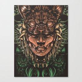 Feline human Canvas Print