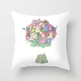 Bouquet of Flowers Throw Pillow