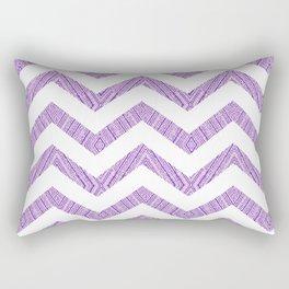 Decorative Chevron Purple Texture Pattern Rectangular Pillow
