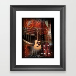 The Acoustic Guitar  Framed Art Print