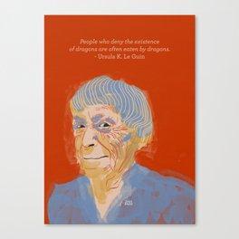 Ursula K. Le Guin portrait + quote Canvas Print