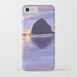 Sunset at Haystack Rock iPhone Case