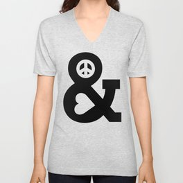 Peace and Love Unisex V-Neck