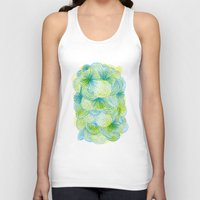 lime Tank Tops featuring Space lime by Marcelo Romero