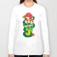 poison ivy Long Sleeve T-shirts featuring Poison Ivy by JennaJennaBatman